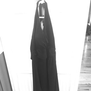 Size 4 White House black market black halter dress